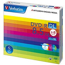Verbatim DHR85HP5V1 データ用DVD-R DL 8.5GB 2-8倍速 ホワイトワイドプリンタブル 5mmスリムケース