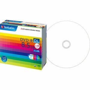 Verbatim DHR85HP10V1 データ用DVD-R DL 8.5GB 2-8倍速 ホワイトワイドプリンタブル 5mmスリムケース