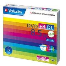 Verbatim DTR85HP5V1 データ用DVD+R DL 8.5GB 8倍速 ワイドプリンタブル 5mmスリムケース