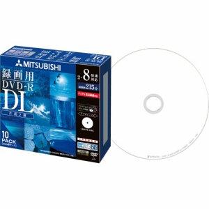 三菱ケミカル VHR21HDSP10 録画用DVD-R DL 215分 2-8倍速 ホワイトワイドプリンタブル 5mmスリムケース