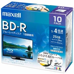 MAXELL BRV25WPE.10S 録画用BD-R 130分 1-4倍速 ホワイトワイドプリンタブル 5mmスリムケース