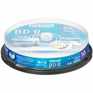 MAXELL BRV25WPE.10SP 録画用BD-R 130分 1-4倍速 ホワイトワイドプリンタブル スピンドルケース