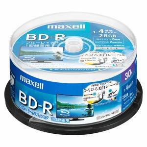 MAXELL BRV25WPE.30SP 録画用BD-R 130分 1-4倍速 ホワイトワイドプリンタブル スピンドルケース