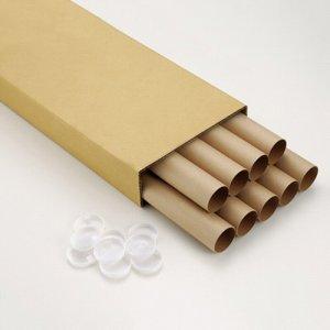 SKNA29 製図用紙管(ポリ蓋付き) A2(550mm) 汎用品