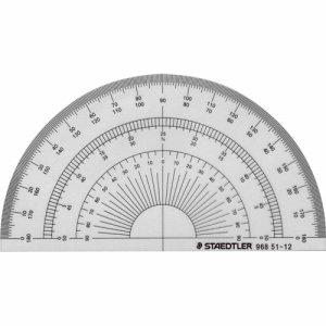 ステッドラー 968 51-12 半円分度器 12CM