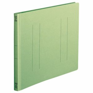 OSST-A4EG フラットファイル A4ヨコ 背幅18mm 緑 10冊パック 汎用品