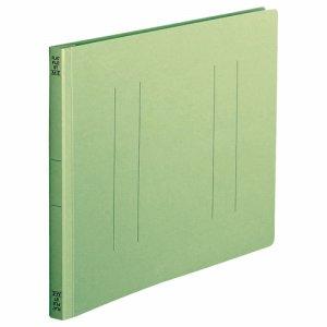 OSST-A4EG フラットファイル A4ヨコ 背幅18mm 緑 1セット100冊 汎用品