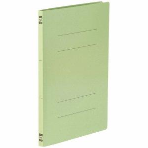 86-047 フラットファイル PPラミネート表紙タイプ A4タテ 背幅17.5mm グリーン 1セット30冊 汎用品