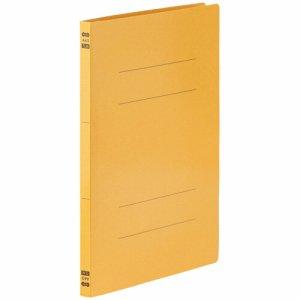 86-049 フラットファイル PPラミネート表紙タイプ A4タテ 背幅17.5mm イエロー 1セット30冊 汎用品