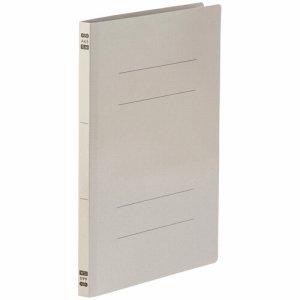 86-050 フラットファイル PPラミネート表紙タイプ A4タテ 背幅17.5mm グレー 1セット30冊 汎用品