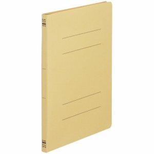 NS-A4S-Y ノンステープルタイプフラットファイル A4タテ 背幅18mm 黄 1セット100冊 汎用品
