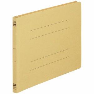 NS-A4E-Y ノンステープルタイプフラットファイル A4ヨコ 背幅18mm 黄 10冊パック 汎用品