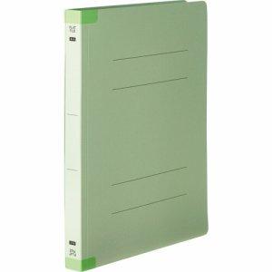 OSSHW-A4SG 背補強フラットファイル 厚とじ A4タテ 背幅28mm グリーン 10冊パック 汎用品
