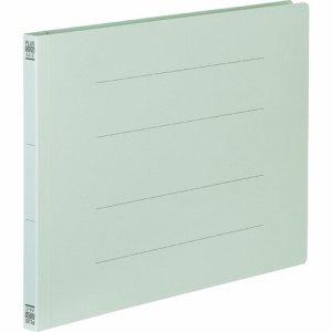 PLUS No.022Nブル- フラットファイル 樹脂とじ具 A4ヨコ 150枚収容 背幅18mm ブルー