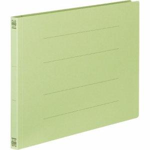 PLUS No.022Nグリ-ン フラットファイル 樹脂とじ具 A4ヨコ 150枚収容 背幅18mm グリーン
