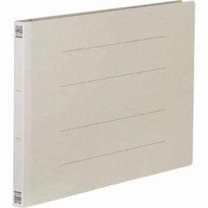 PLUS No.022Nグレ- フラットファイル 樹脂とじ具 A4ヨコ 150枚収容 背幅18mm グレー