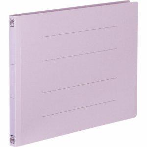 PLUS No.022Nバイオレツト フラットファイル 樹脂とじ具 A4ヨコ 150枚収容 背幅18mm バイオレット