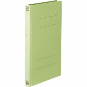 PLUS No.031Nグリ-ン フラットファイル 樹脂とじ具 B5タテ 150枚収容 背幅18mm グリーン