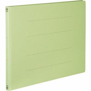 PLUS No.002Nグリ-ン フラットファイル 樹脂とじ具 A3ヨコ 150枚収容 背幅18mm グリーン
