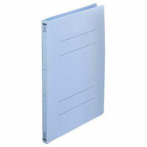 OPF-A4S-B フラットファイル(再生PP) A4タテ 背幅18mm ブルー 1セット25冊 汎用品
