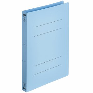 OPFW-A4S-B フラットファイル厚とじ(PP) A4タテ 背幅28mm ブルー 5冊パック 汎用品