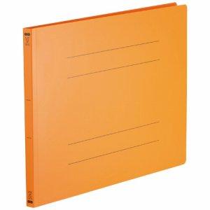 OPF-A3E-OR フラットファイル(再生PP) A3ヨコ 背幅18mm オレンジ 5冊パック 汎用品