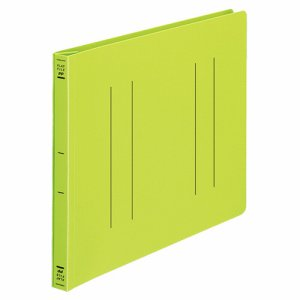 コクヨ フ-H15YG フラットファイル(PP) A4ヨコ 150枚収容 背幅20mm 黄緑 10冊セット