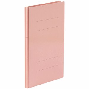 87-878 背幅伸縮フラットファイル(PPラミ表紙) A4タテ 背幅18〜118mm ピンク 汎用品