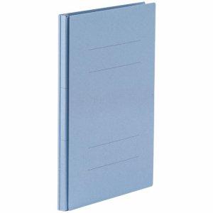 87-876 背幅伸縮フラットファイル(PPラミ表紙) A4タテ 背幅18〜118mm ブルー 10冊セット 汎用品