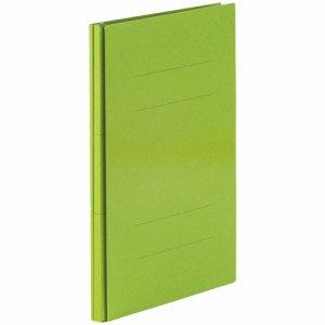 87-877 背幅伸縮フラットファイル(PPラミ表紙) A4タテ 背幅18〜118mm グリーン 10冊セット 汎用品