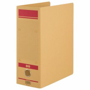 HFNA4S-10R 保存用ファイルN片開き A4タテ 赤 1セット12冊 汎用品