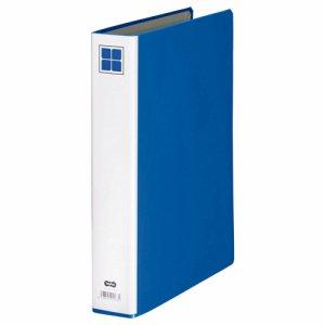 A4SPFE-3B 片開きパイプ式ファイルE A4タテ背幅56mm 青 汎用品