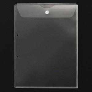 G-Aim YG-204 2穴ホルダー フタ(マジックテープ付)・マチ付 A4タテ クリア