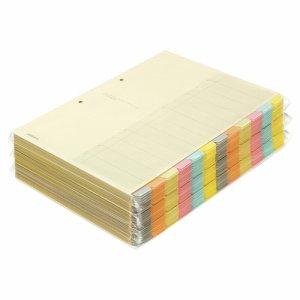 コクヨ シキ-150 カラー仕切カード(ファイル用・12山見出シ) A4タテ 2穴 6色+扉紙