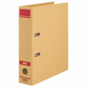 HRNA4S-R 保存用レバー式アーチファイルN A4タテ 背幅77mm 赤 1セット12冊 汎用品
