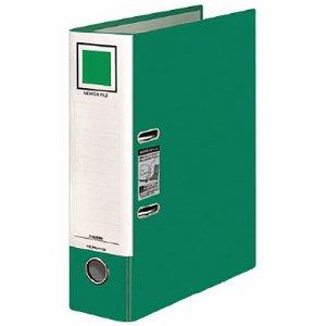 コクヨ フ-AL290NG レバッチファイル A4タテ 2穴 480枚収容 背幅76mm 緑
