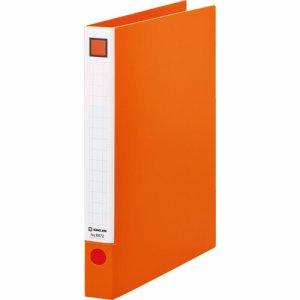 KINGJIM 6672オレ レバーリングファイル A4タテ 2穴 250枚収容 背幅33mm オレンジ