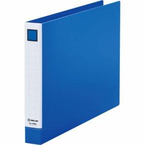 KINGJIM 6682アオ レバーリングファイル A4ヨコ 2穴 250枚収容 背幅33mm 青