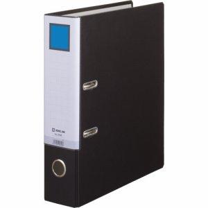 KINGJIM 3595クロ レバー式アーチファイル A4タテ 2穴 500枚収容 背幅70mm 黒