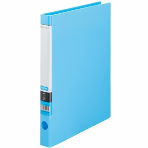 CRFSA4S-LB Oリングファイル A4タテ 2穴 背幅32mm ライトブルー 10冊セット 汎用品