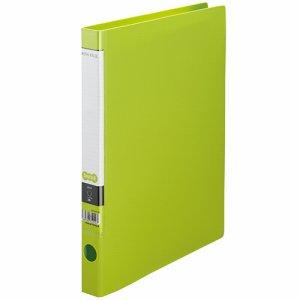CRFSA4S-LG Oリングファイル A4タテ 2穴 背幅32mm ライトグリーン 10冊セット 汎用品