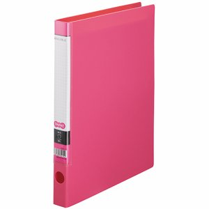 CRFSA4S-P Oリングファイル A4タテ 2穴 背幅32mm ピンク 10冊セット 汎用品