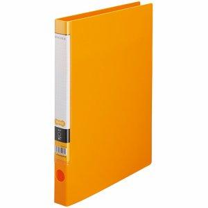 CRFSA4S-O Oリングファイル A4タテ 2穴 背幅32mm オレンジ 10冊セット 汎用品