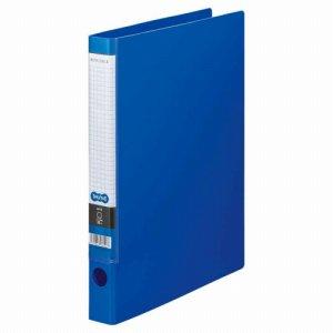 CRFA4S-B Oリングファイル A4タテ 2穴 背幅35mm ブルー 10冊セット 汎用品
