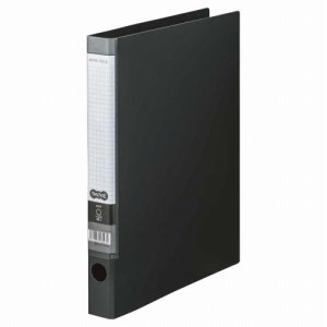 CRFA4S-DM Oリングファイル A4タテ 2穴 背幅35mm ダークグレー 10冊セット 汎用品