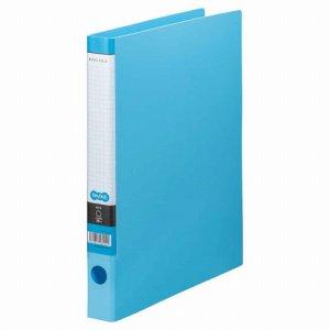 CRFA4S-LB Oリングファイル A4タテ 2穴 背幅35mm ライトブルー 10冊セット 汎用品