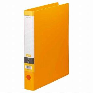 CRFWA4S-O Oリングファイル A4タテ 2穴 背幅44mm オレンジ 10冊セット 汎用品