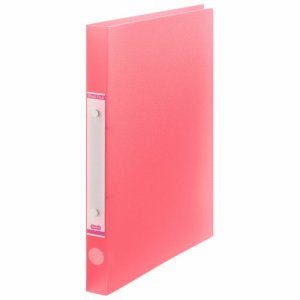 ORFS-A4-P 半透明表紙Oリングファイル A4タテ リング内径20mm ピンク 汎用品
