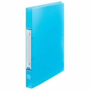 ORFS-A4-B 半透明表紙Oリングファイル A4タテ リング内径20mm ブルー 10冊セット 汎用品
