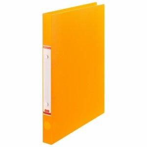 ORFS-A4-O 半透明表紙Oリングファイル A4タテ リング内径20mm オレンジ 10冊セット 汎用品